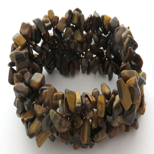 Picture of Bracelet - Semi Precious Chipped Stone (Tigers Eye)