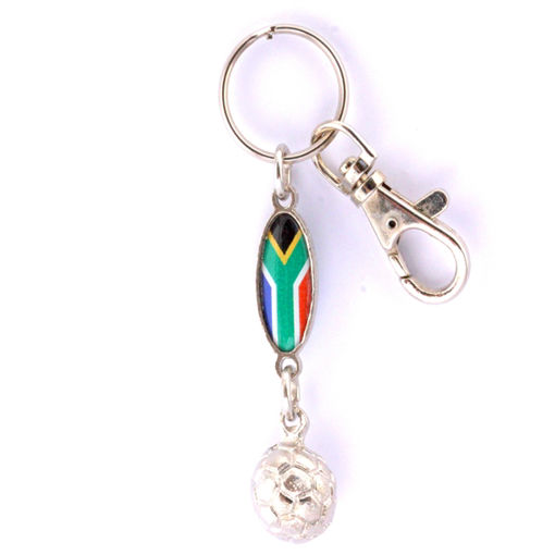 Picture of Key Ring - SA Flag (Soccer Ball)