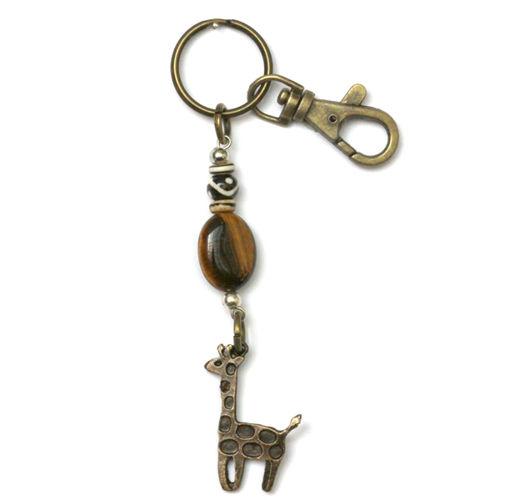 Picture of Key Ring - Tigers Eye (Giraffe)
