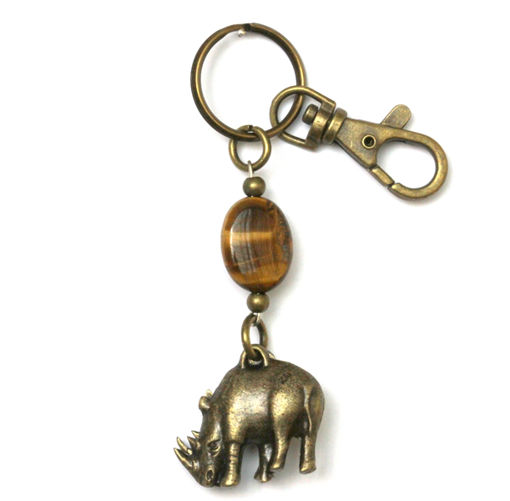Picture of Key Ring - Tigers Eye (Rhino)