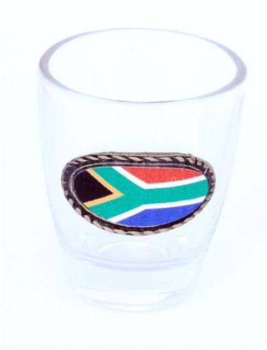 Picture of Tot Glass - SA Flag