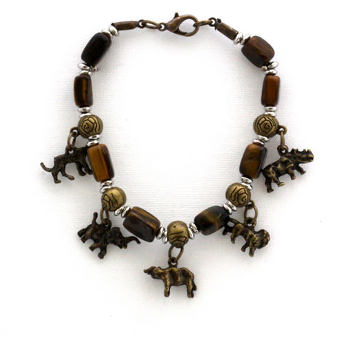 Picture of Bracelet - Big 5 (Tigers Eye Beads)