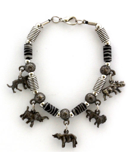 Picture of Bracelet - Big 5 with Zebra Beads