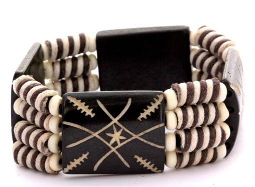Picture of Bracelet - Bone Bead (Striped)