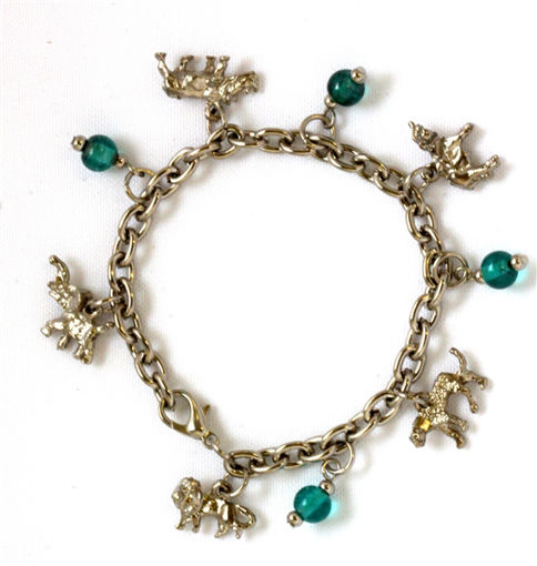 Picture of Charm Bracelet - Big 5 (Turquoise Beads)