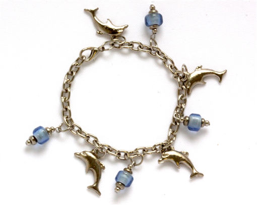Picture of Charm Bracelet - Dolphin (Blue Beads)