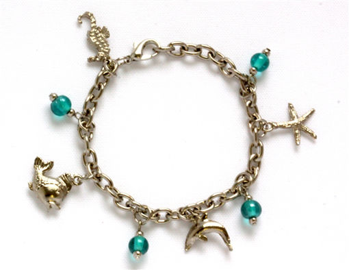 Picture of Charm Bracelet - Sealife (Blue Beads)
