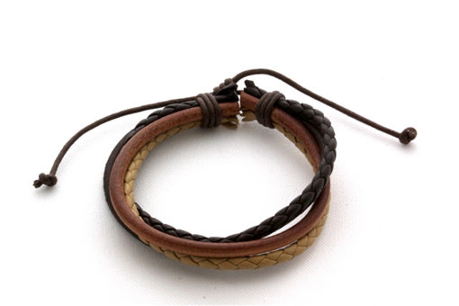 Picture of Leather Bracelet - Multi-strand (Rich Tones)