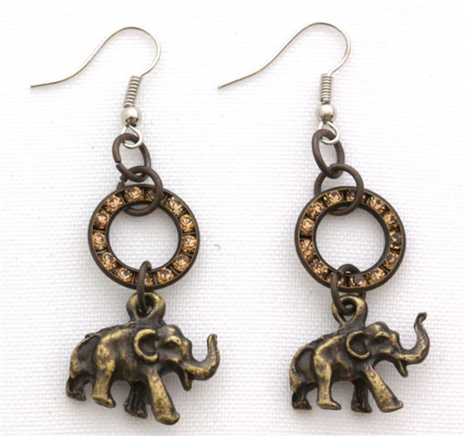Picture of Earrings - Diamante Studded (Elephant)