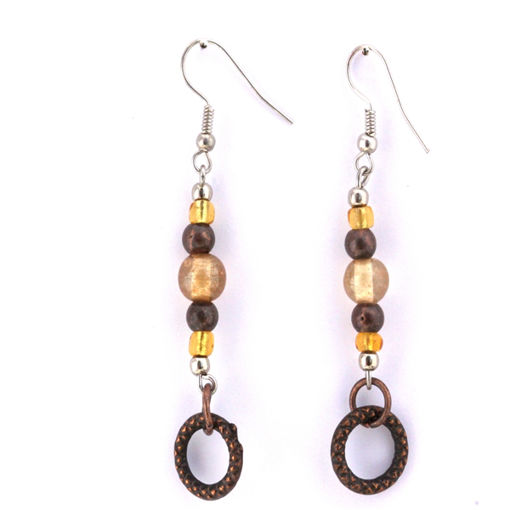 Picture of Earrings - Long Beaded Loop