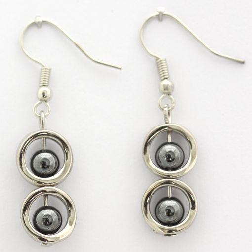 Picture of Earrings - Stone / Metal (Hematite)