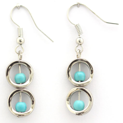Picture of Earrings - Stone / Metal (Turquoise)