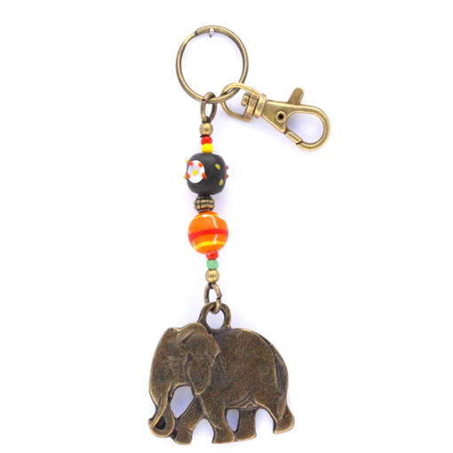 Picture of Key Ring - African Trade Bead (Elephant)