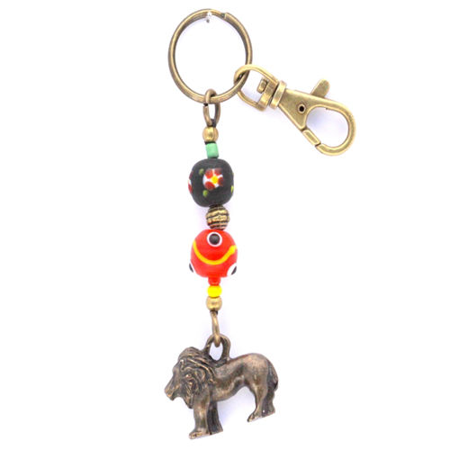 Picture of Key Ring - African Trade Bead (Lion)