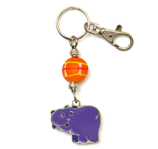 Picture of Key Ring - Hand Painted (Hippo)