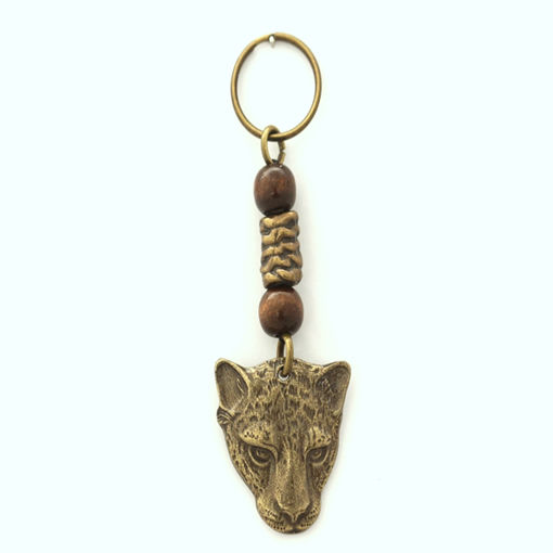 Picture of Key Ring - Single Beaded (Cheetah)