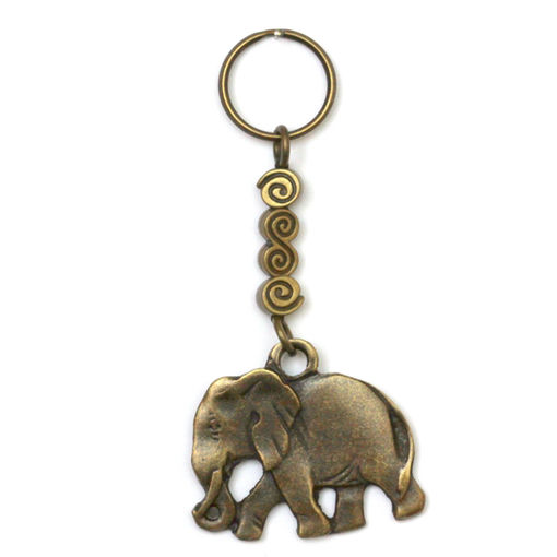 Picture of Key Ring - Single Beaded (Elephant)