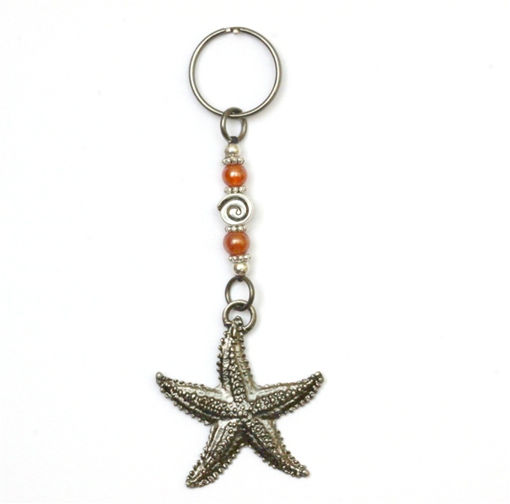 Picture of Key Ring - Single Beaded (Starfish)