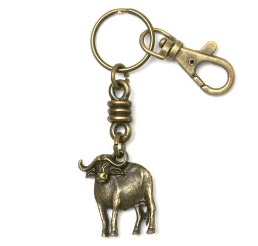 Picture of Key Ring - Single Ethnic with Clip (Buffalo)