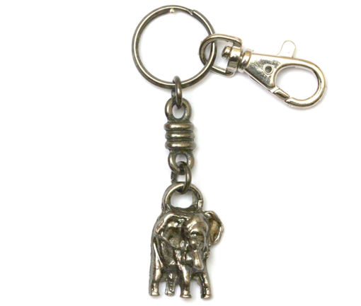 Picture of Key Ring - Single Ethnic with Clip (Elephant)