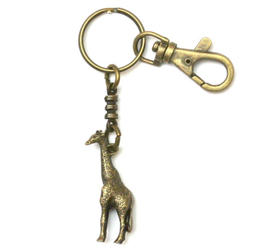 Picture of Key Ring - Single Ethnic with Clip (Giraffe)