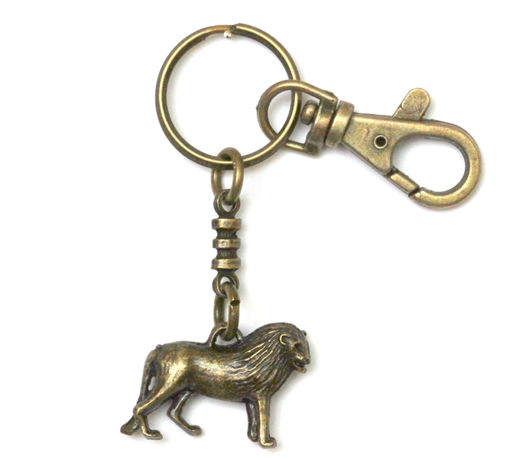 Picture of Key Ring - Single Ethnic with Clip (Lion)