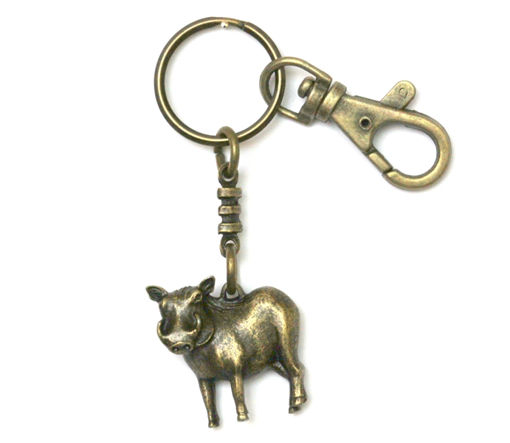 Picture of Key Ring - Single Ethnic with Clip (Warthog)