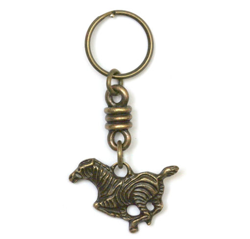 Picture of Key Ring - Single Ethnic (Zebra)