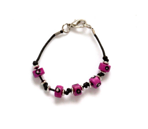 Picture of Children's Bracelet - Bone Bead (Pink)