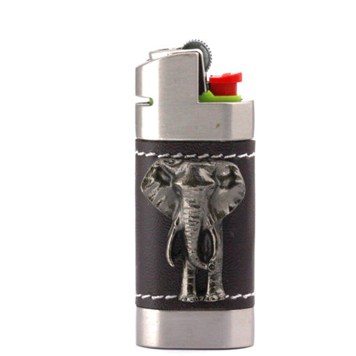 Picture of Leather Lighter Cover - Elephant