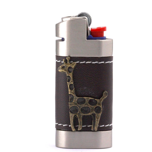 Picture of Leather Lighter Cover - Giraffe