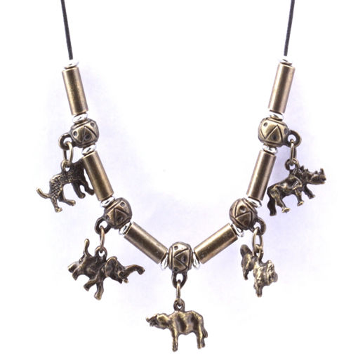 Picture of Necklace - Big 5 (Metal Beads)