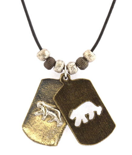 Picture of Necklace - Double Pendant (Cheetah)