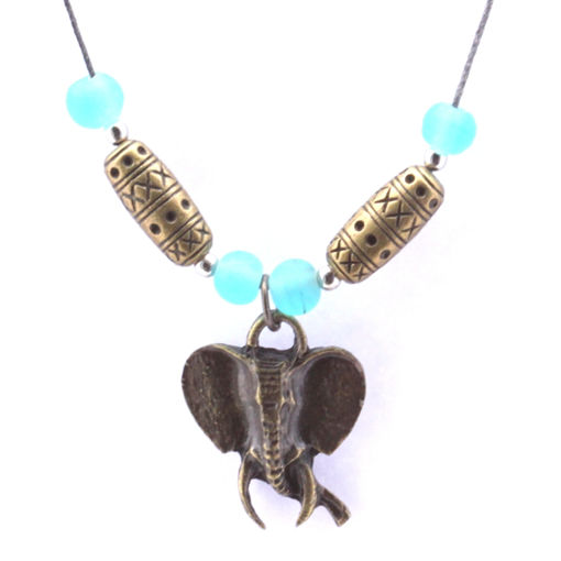 Picture of Choker - Glass & Metal (Elephant Head)