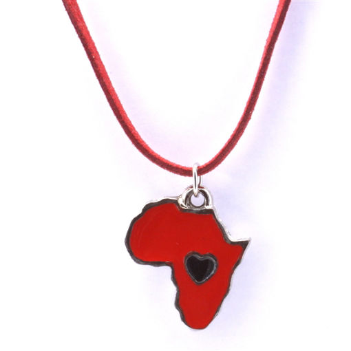 Picture of Children's Choker - Hand Painted (Africa/Heart)