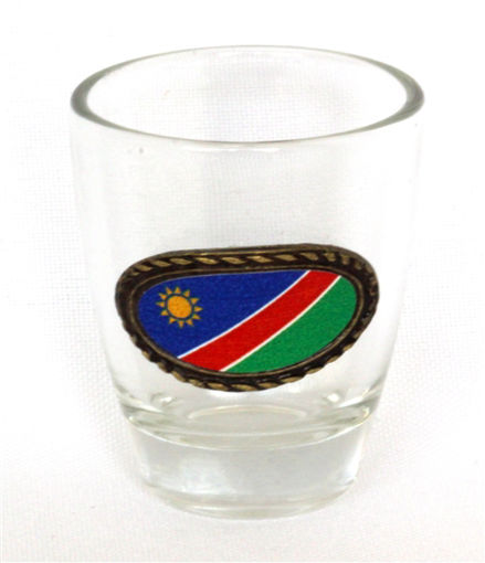 Picture of Tot Glass - Namibian Flag