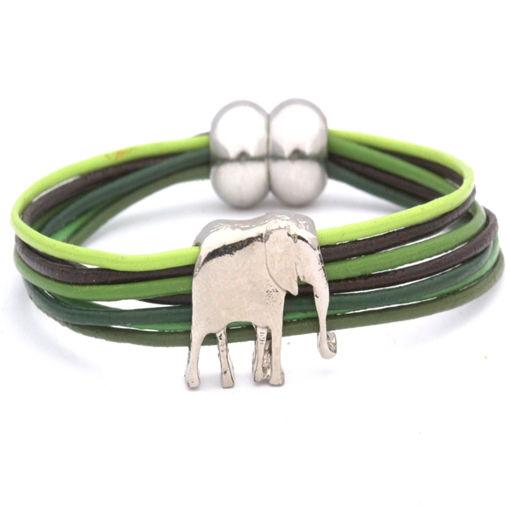 Picture of Bracelet - Leather / 7 Stranded (Elephant)