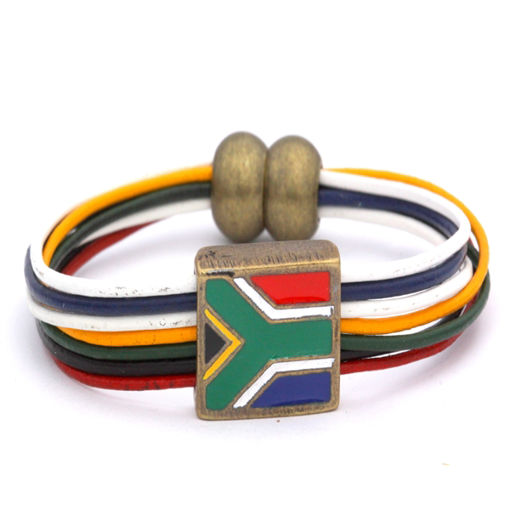 Picture of Bracelet - Leather (SA Flag)