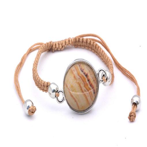 Picture of Bracelet - Stone (Tan Cotton)