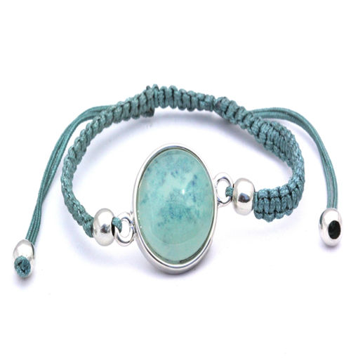 Picture of Bracelet - Stone (Turquoise Cotton)