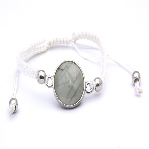 Picture of Bracelet - Stone (White Cotton)