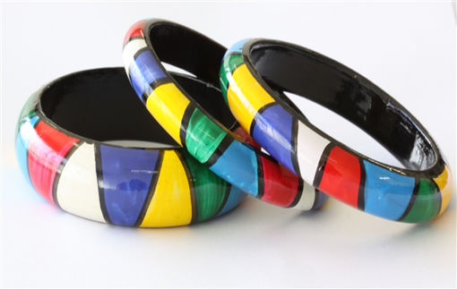 Picture of Bracelets - Hand Painted / African Design (1)