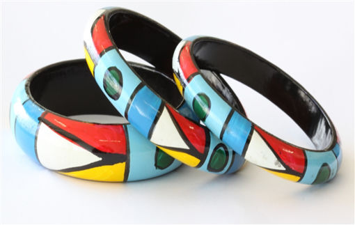 Picture of Bracelets - Hand Painted / African Design (3)