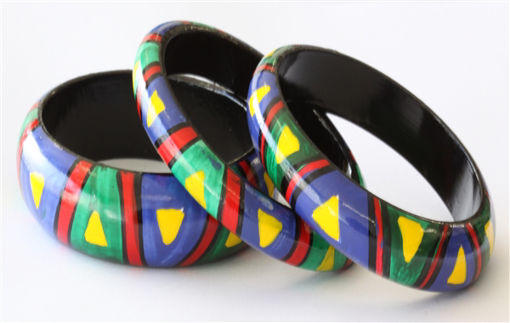 Picture of Bracelets -Hand Painted / African Design (2)