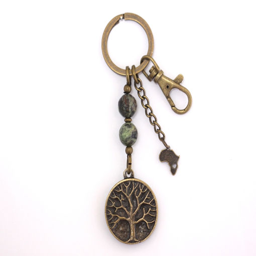 Picture of Key Ring - Agate Stone (Tree of Life)
