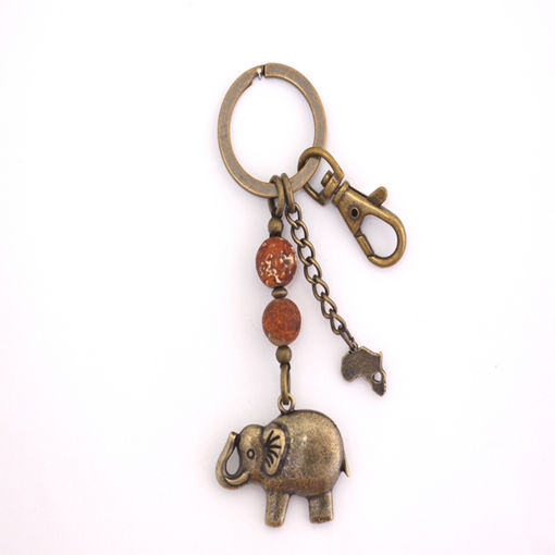 Picture of Key Ring - Agate Stone (Elephant)