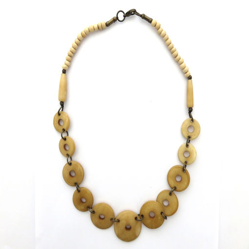 Picture of Necklace - Bone Round (Tan)