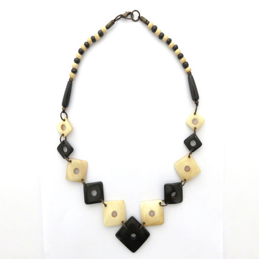 Picture of Necklace - Bone (Brown & Cream)