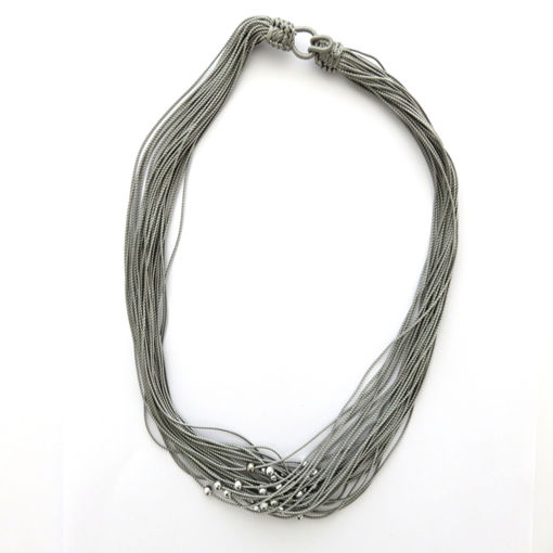 Picture of Necklace - Multi-stranded (Grey Beads)