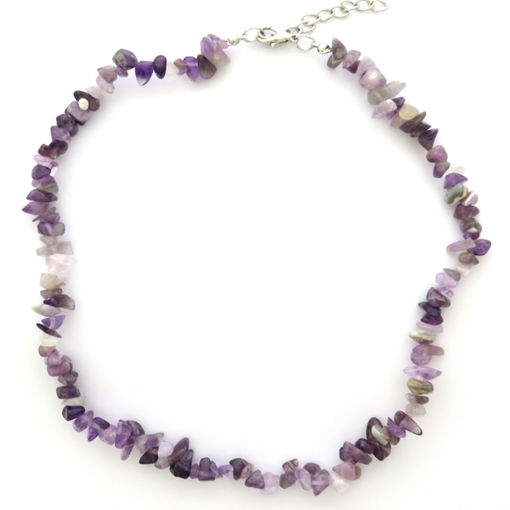 Picture of Necklace - Semi-precious Chipped Stone (Amethyst)